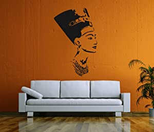 STICKERSFORLIFE Ik58 Wall Decal Sticker Room Decor Wall Art Mural Profile of The Egyptian Queen Nefertiti Living Room Bedroom Interior