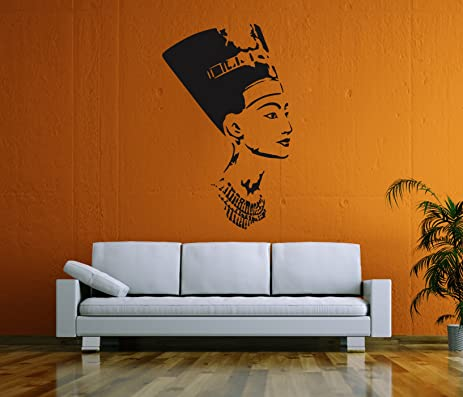 Ik58 Wall Decal Sticker Room Decor Wall Art Mural Profile Of The Egyptian  Queen Nefertiti Living Part 20