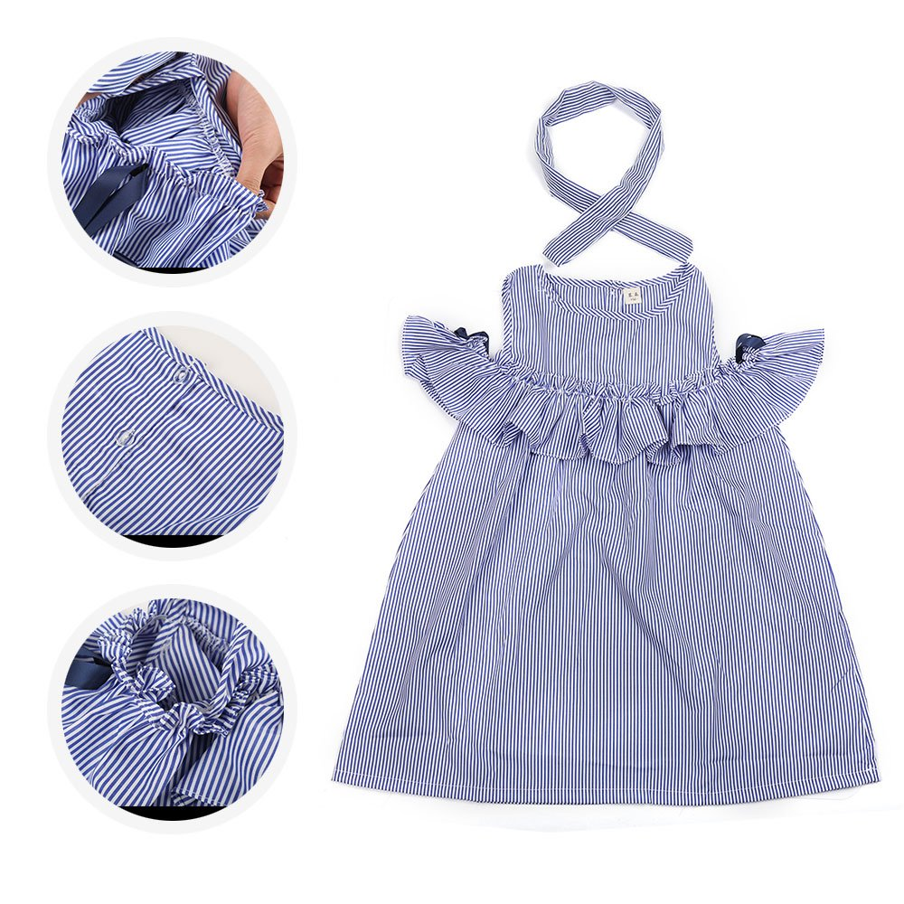 Robasiom Little Girls Dress Cotton Casual Short Sleeve Skirt for Summer Parenting Family Dress by Eden Babe (Image #3)