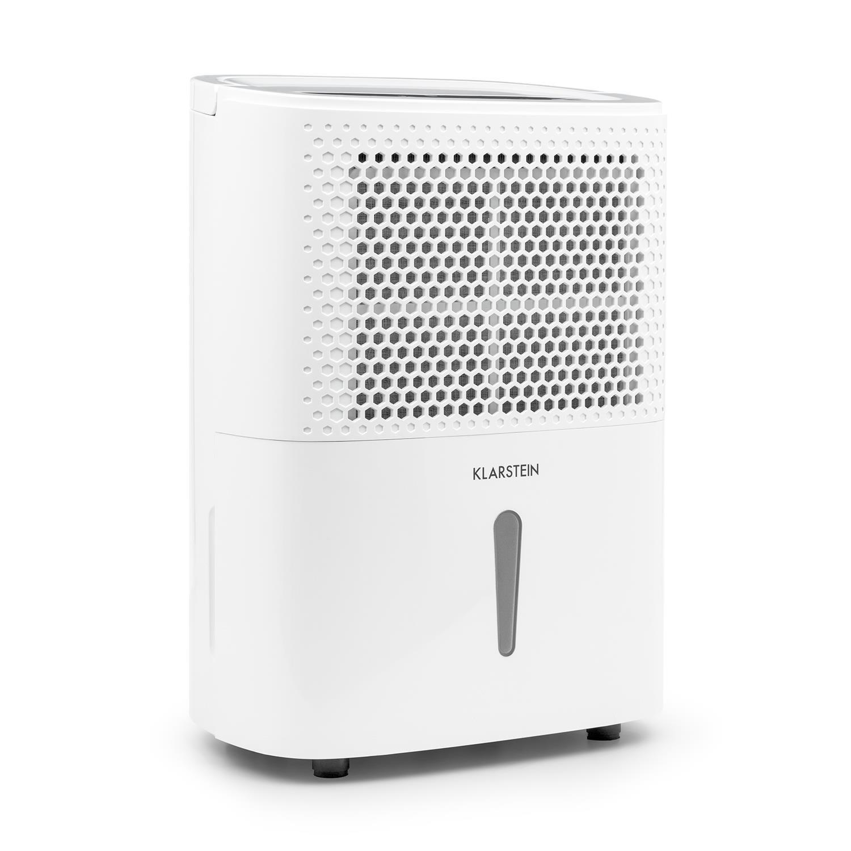 Klarstein DryFy 10 • Luftentfeuchter • Raumentfeuchter • 240 Watt • 10 Liter / 24h • für 15-20 m² (bis 50 m³) Raumgröße • Silent-Modus • 40 dB leise • grau
