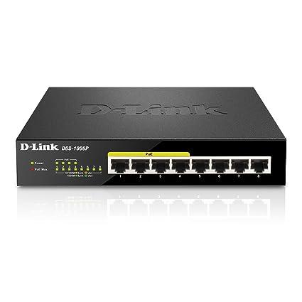 D Link DGS 1008P Gigabit Unmanaged Desktop Switch With 4 PoE Ports