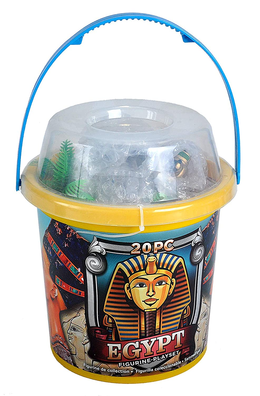 Valley of The Kings Educational Toys Wild Republic 22854 Egyptian Adventure Bucket 20Piece Egypt Accessories Toy Pyramid