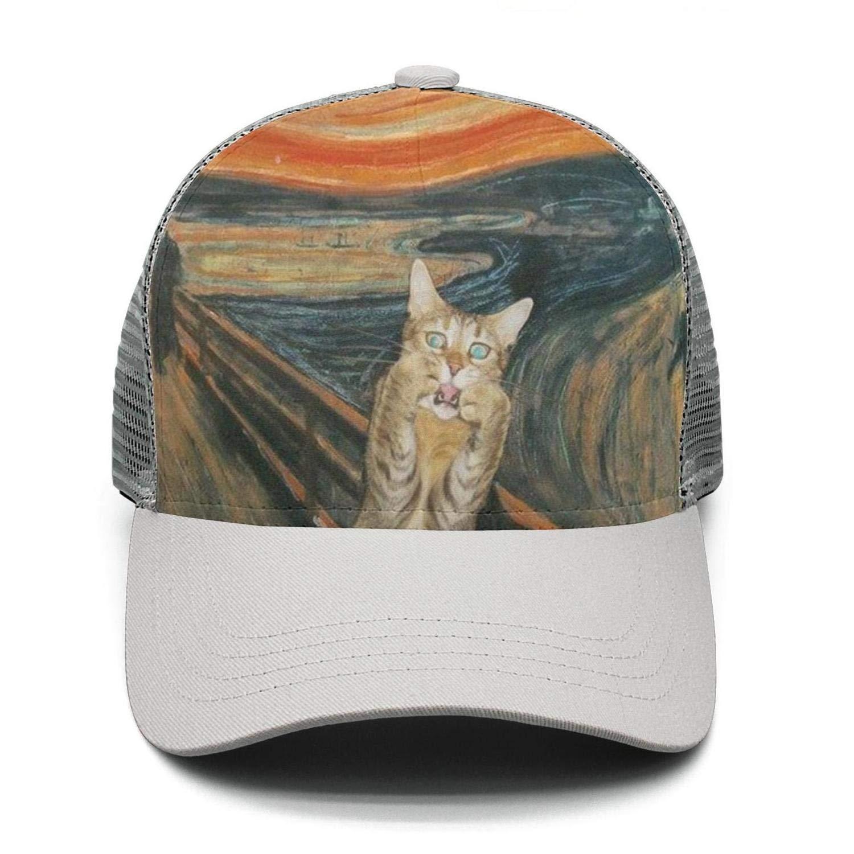 Casual Baseball cap fat cat fuck Fitted Adjustable Mesh Trucker Hat