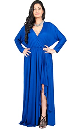 7ba0acd4f72 Adelyn and Vivian Plus Size Women s Long Sleeve Sleeves Sexy Formal Fall  Winter Floor Length Flowy