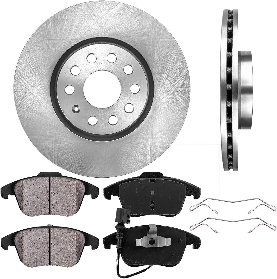 2009 2010 for Volkswagen Passat Front /& Rear Brake Rotors and Pads 312mm Rotors