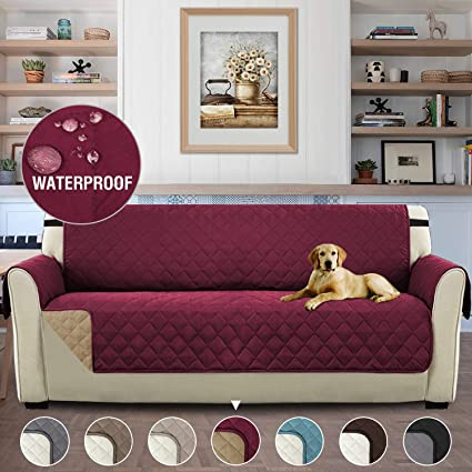 Brilliant H Versailtex Waterproof Sofa Cover Reversible Couch Slipcover Furniture Protector Sofa Covers For 3 Cushion Couch With 2 Wide Elastic Strap Machine Machost Co Dining Chair Design Ideas Machostcouk