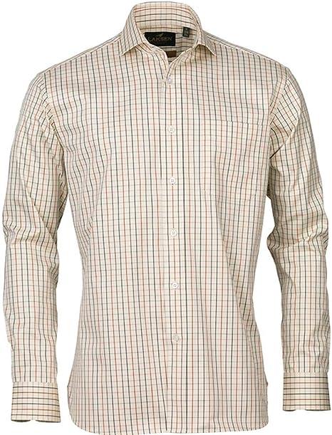 Laksen Baptiste - Camisa de caza de 2 capas, color Crema Check, tamaño medium: Amazon.es: Ropa y accesorios