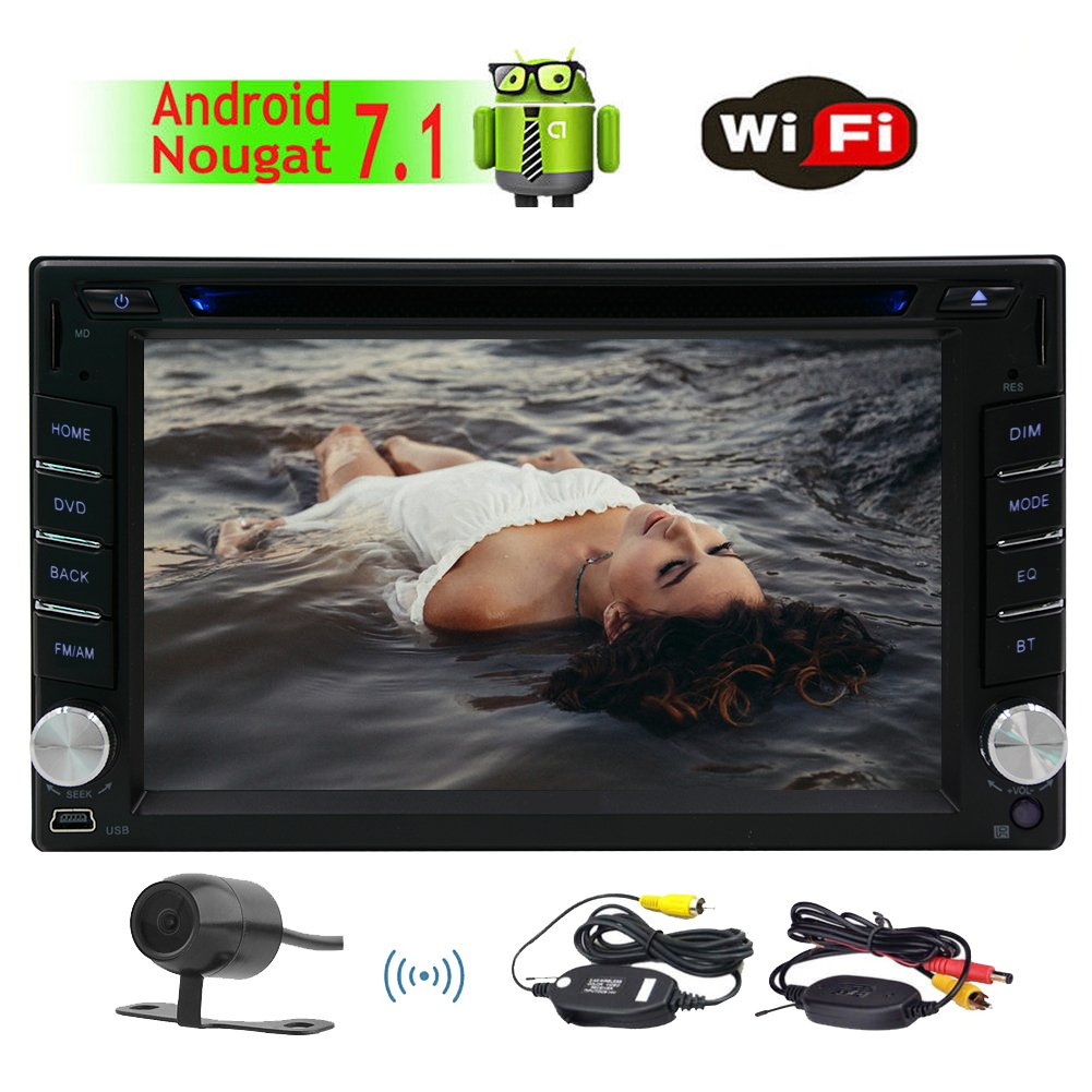 Eincar Android 7.1 Octa-Core 2GB 32GB Car Stereo Bluetooth Car Radio Sat Nav 6.2 Touch Screen Double Din Head Unit Support Fastboot DAB Mirrorlink Subwoofer WiFi 3G 4G AUX USB Cam-in OBD DVR SWC EinCar Direct HYH.AN70257GNN3+WFCAM