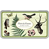 Cavallini Rubber Stamps Flora & Fauna, Assorted with Ink Pad