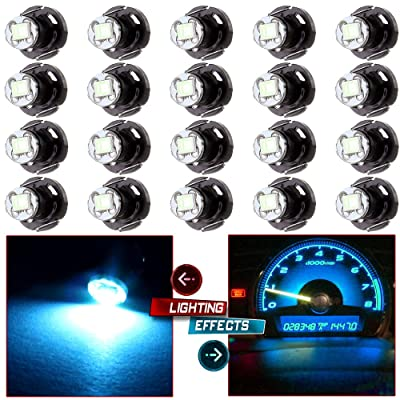 cciyu 20 Pack Blue T4/T4.2 Neo Wedge LED Climate Base Light Lamp Bulbs (ice blue): Automotive