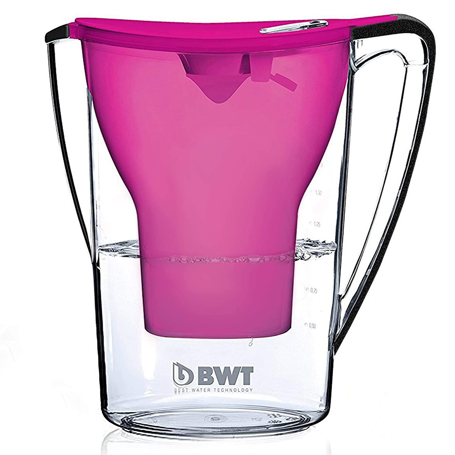 BWT Award Winning Austrian Quality Water Filter Pitcher, Patented Magnesium Technology for Superior Filtration and Taste (Bonus 60 Day Filter Included) BPA-Free BWT Patented Mg2+ Technology