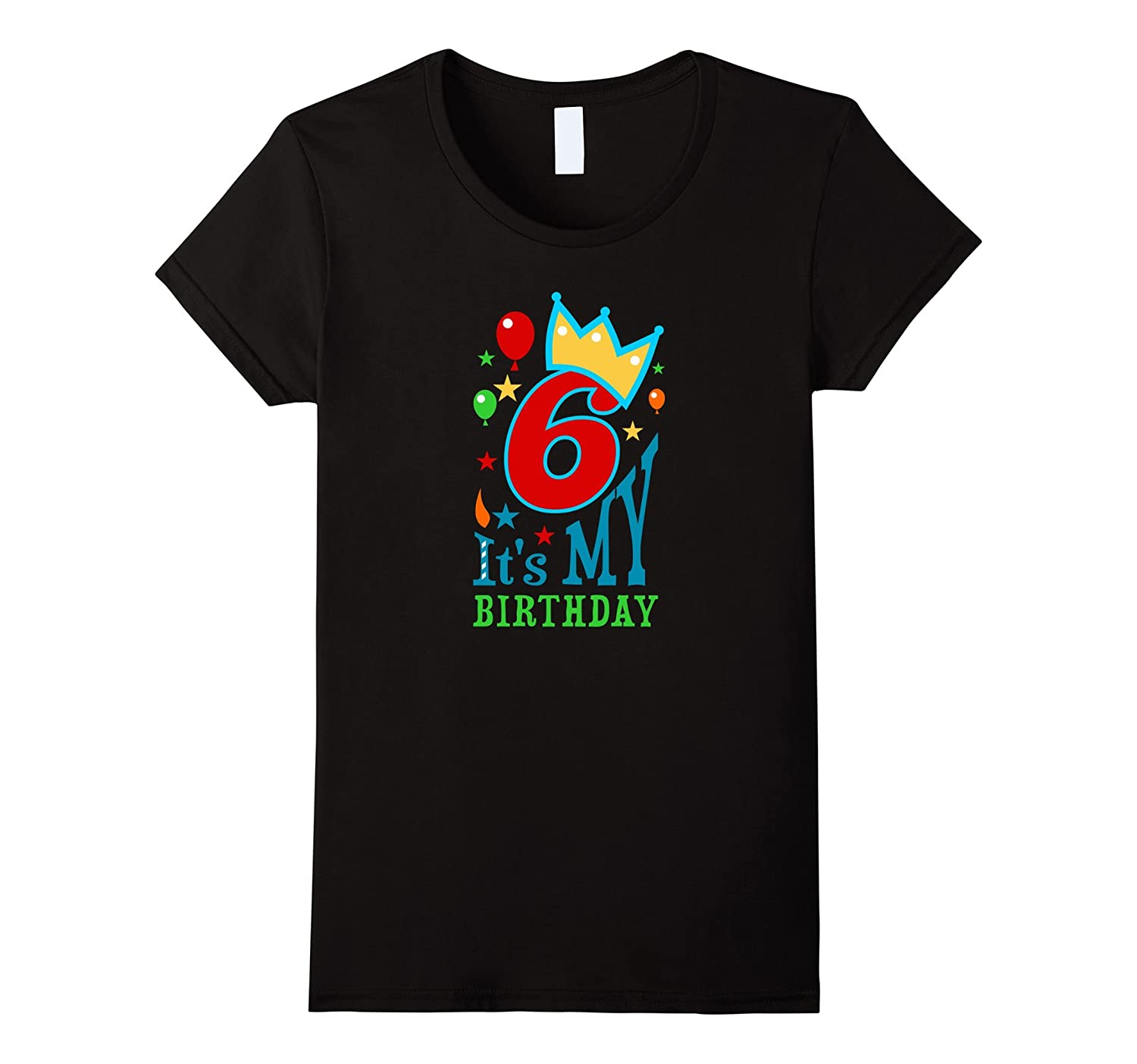 Birthday shirt for girls & boys age 6 - six year old gift T-FL