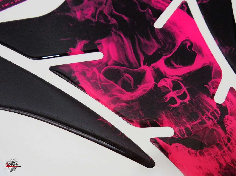 Bike Label 502590 Tank Pad Lackschutz Aufkleber Für Motorrad Tanks Neon Pink Auto