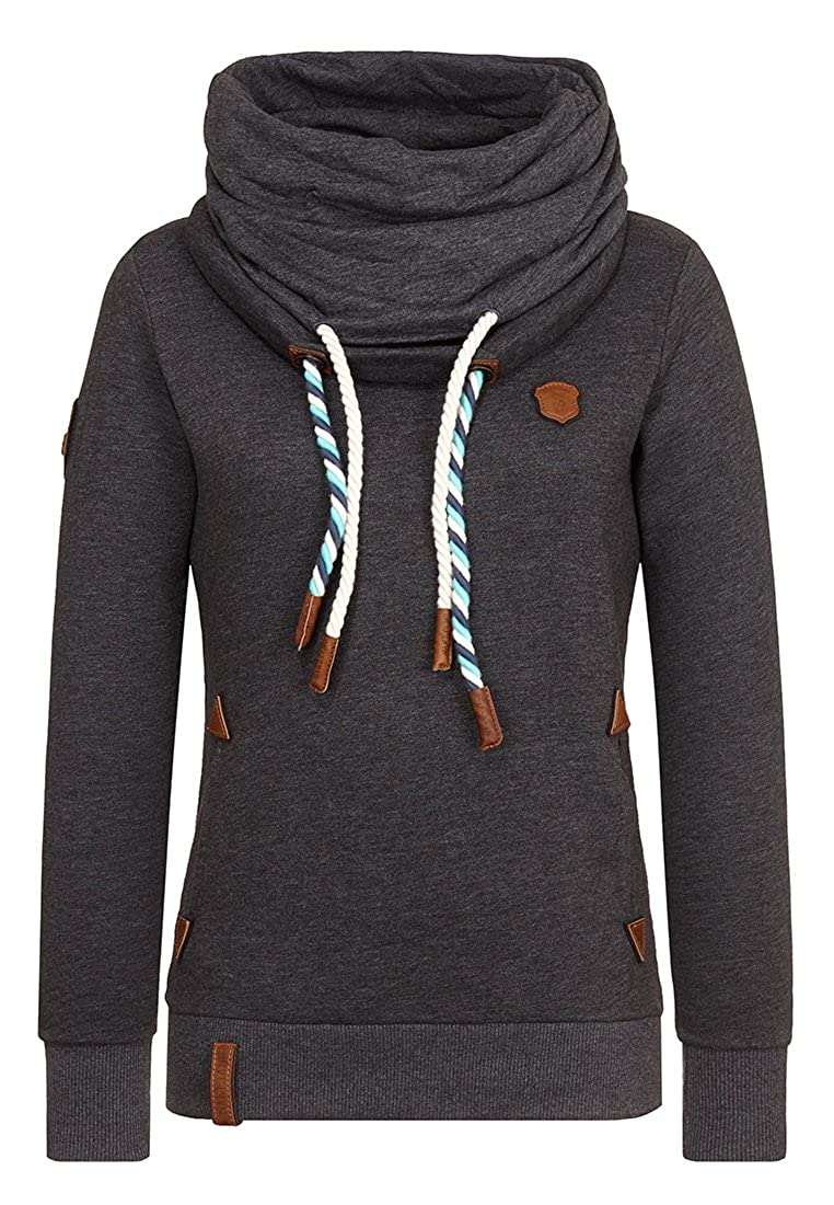 Naketano Women's Sweatshirt Reorder Anthracite Melange, S at Amazon Women's  Clothing store: