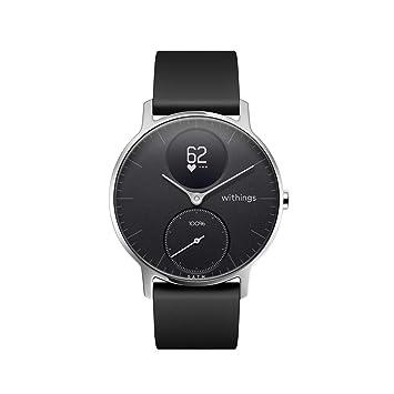Withings Steel HR Reloj, Unisex Adult, 36 mm-Negro, Pulsera de ...
