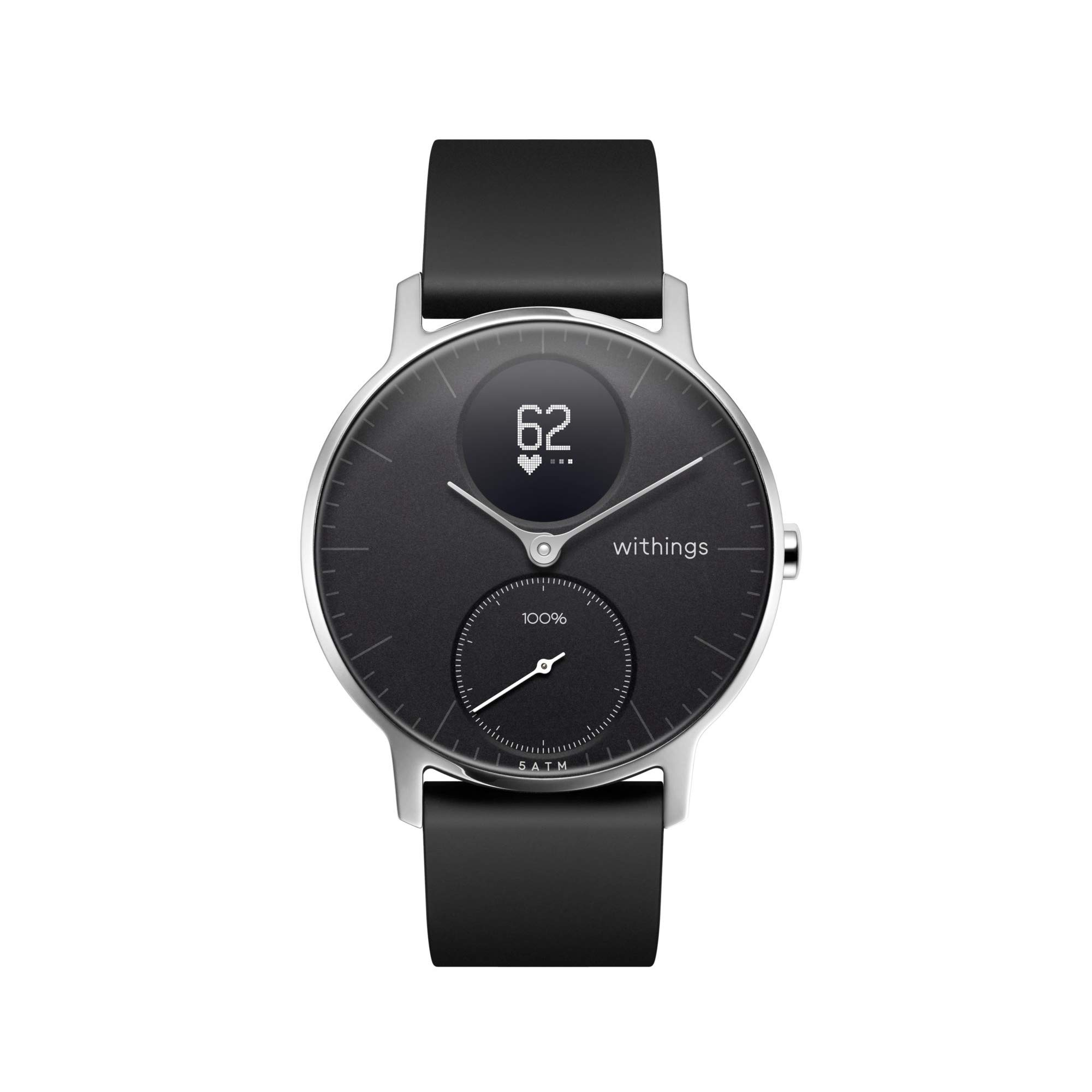 Withings Steel HR Hybrid Smartwatch - Activity Sleep Fitness and Heart Rate Tracker with Connected GPS