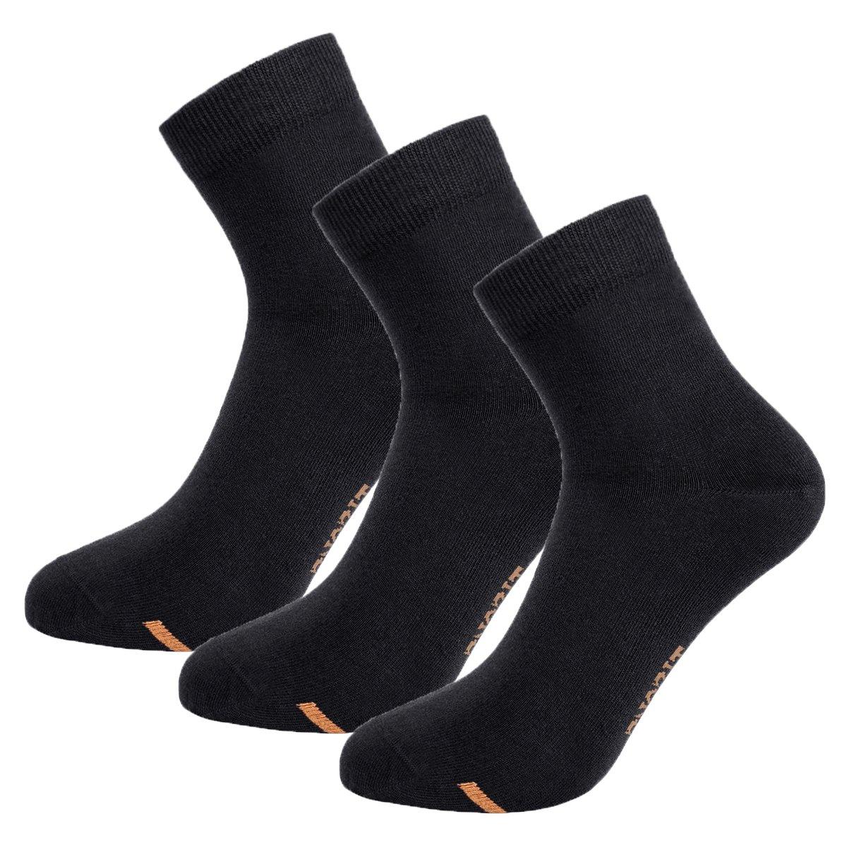 Tisoks 3 Pairs Black Unisex Titanium Antifunal No Odor Sweat Wick Short Sock for Athletes Feet by Tisoks