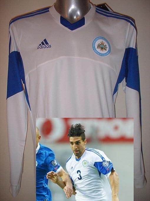 adidas San Marino Adulto Grande – Nuevo de Manga Larga Camiseta Jersey fútbol Camiseta de Maglia
