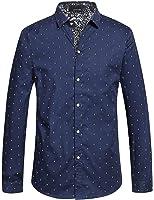 Romano Men's Full Sleeve Casual Blue Shirt