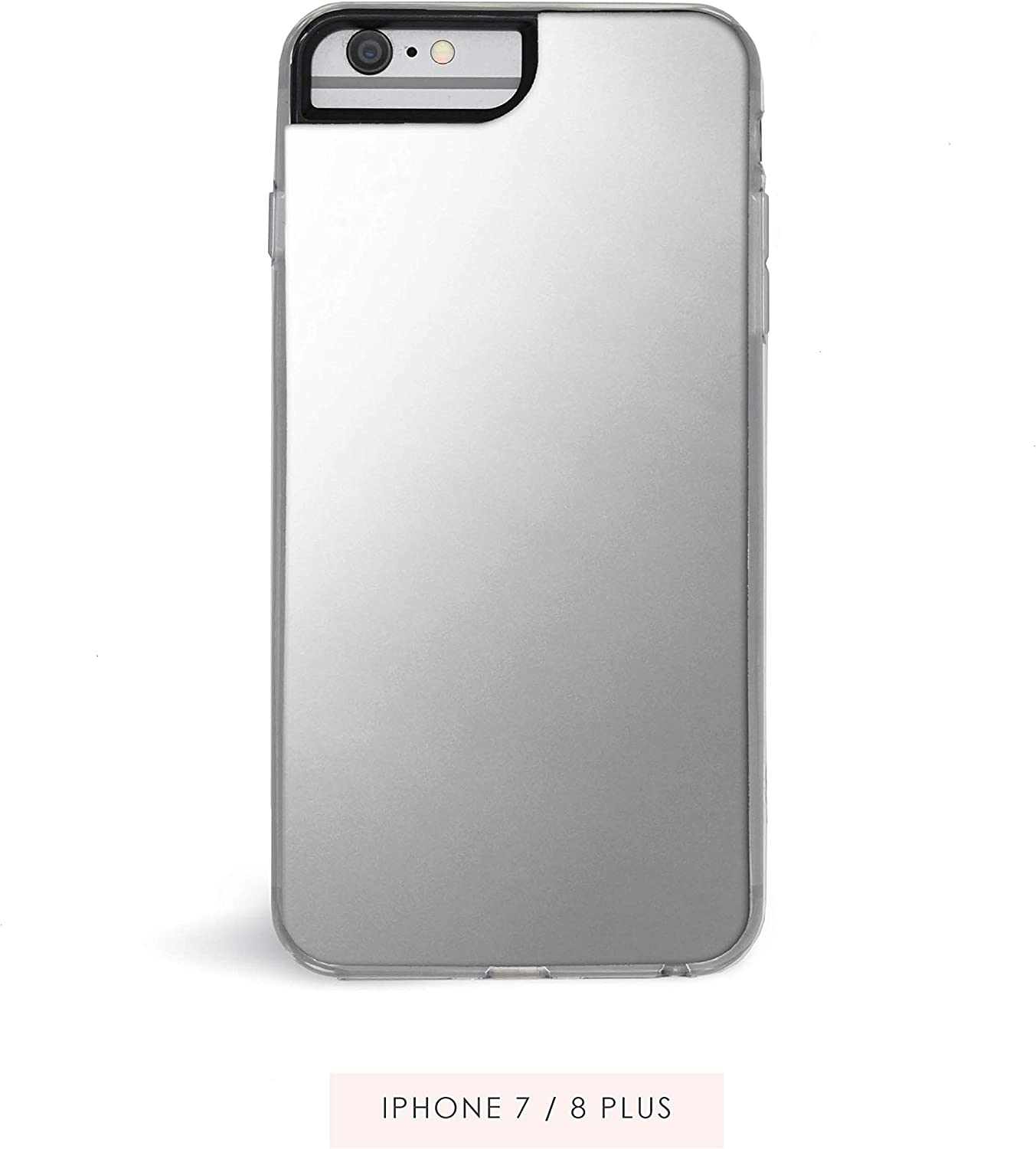 Zero Gravity Compatible with iPhone 7 Plus/8 Plus Silver Mirror Phone Case - Mirror Plated Design - 360° Protection, Drop Test Approved