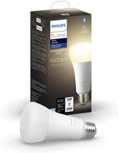 Philips Hue White A21 High Lumen Smart Bulb, 1600 Lumens, Bluetooth & Zigbee Compatible (Hue Hub Optional), Works with Alexa & Google Assistant