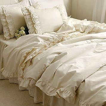 Parure de lit romantique linge de lit satin | Gitetantejeanne