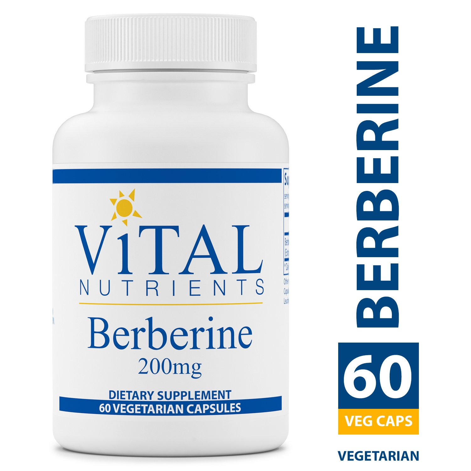 Vital Nutrients - Berberine 200 mg - Supports Regular and Normal Bowel Function - 60 Capsules by Vital Nutrients (Image #1)