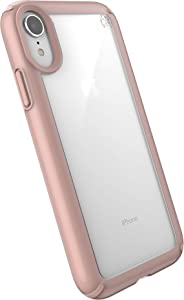 Speck Products Presidio Show iPhone XR Case, Clear/Rose Gold