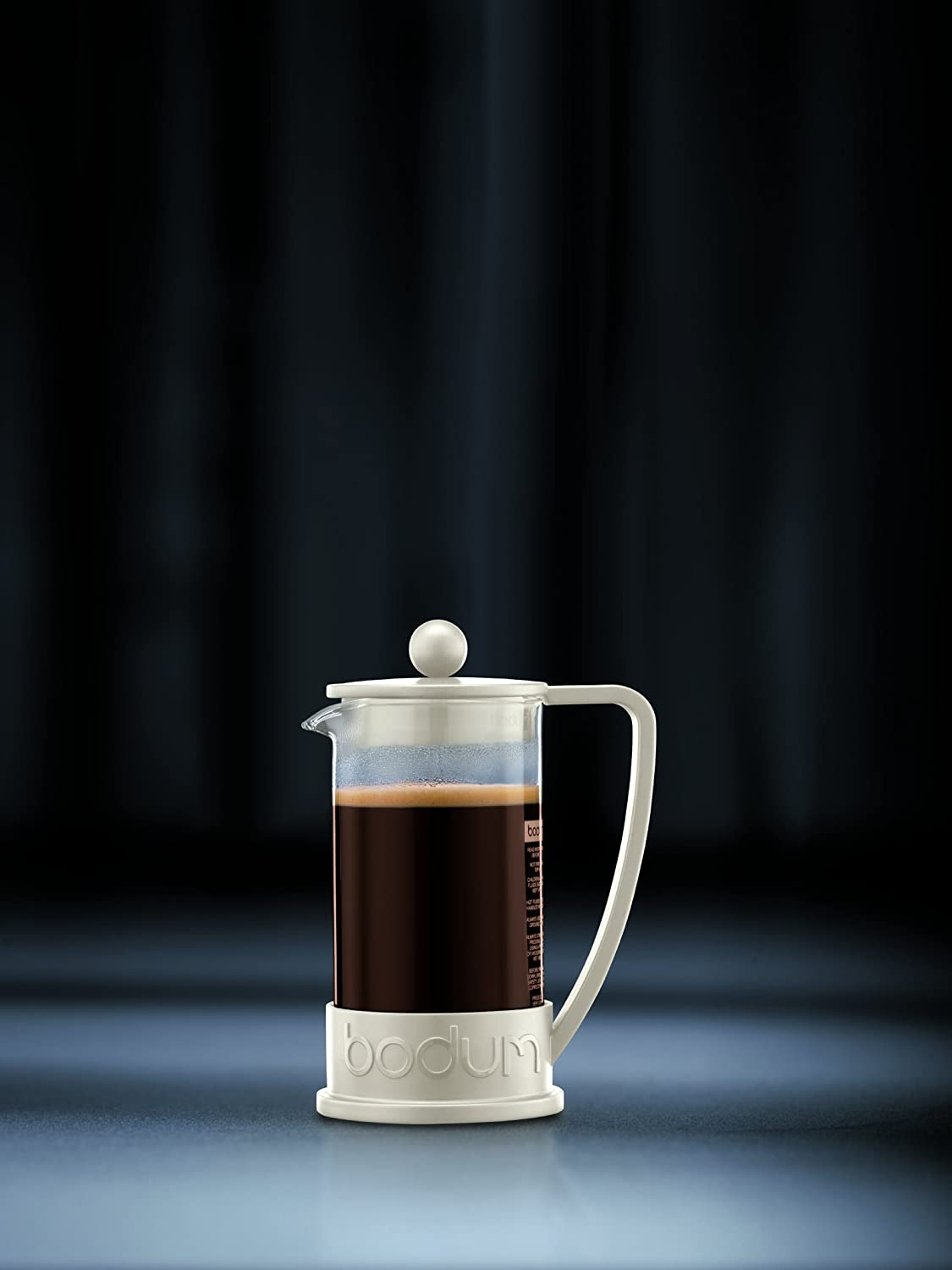 Bodum New Brazil 8-Cup French Press Coffee Maker, 34-Ounce, Off White