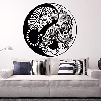 zqyjhkou Tatuajes de Pared Dragón Oculto Tigre Agazapado ...