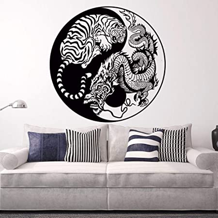 zzlfn3lv Tatuajes de Pared Dragón Oculto Tigre Agazapado Vinilo ...