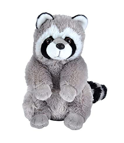 Wild Republic Cuddlekins Racoon, Grey/Black