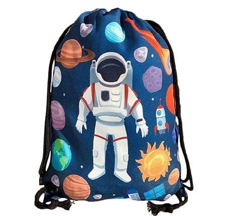 HECKBO bolso de gimnasia para niños con motivos espaciales ...