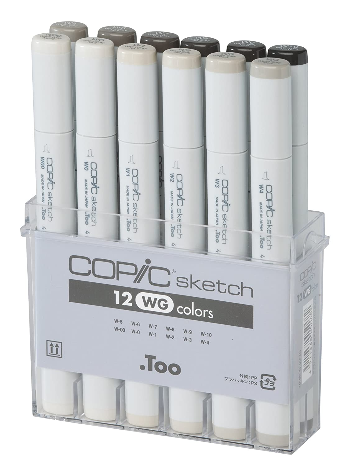 Copic Markers 12 Piece Sketch Set, Warm Gray SWG12