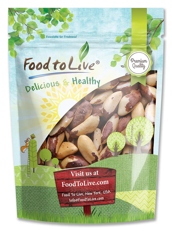 Brazil Nuts, 8 Ounces - Raw, No Shell, Kosher