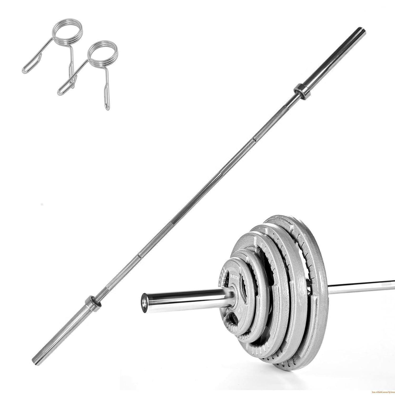 Body Revolution 1,2 m 4 ft Olympischen gerader Barbell und 5,1 cm 50 mm Tri Grip aus Gusseisen Gewicht Teller Bündel