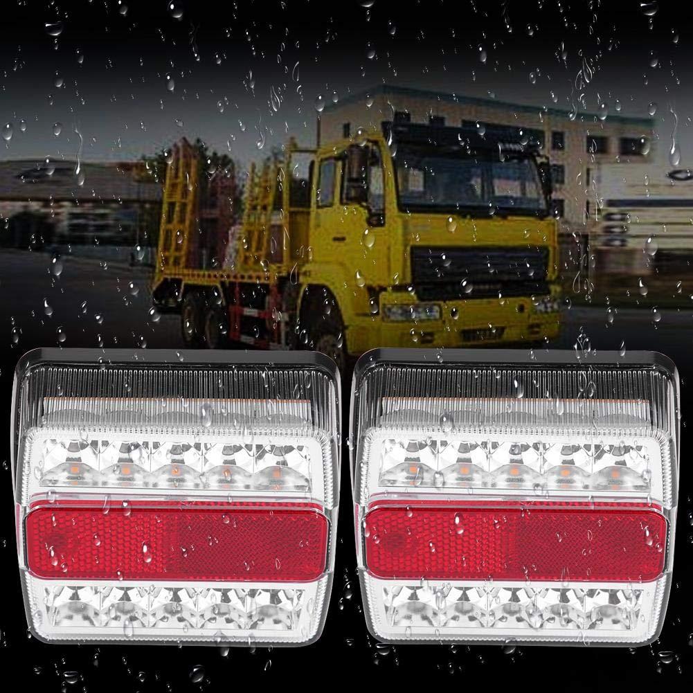 Luz trasera LED magn/ética 1 par de luces LED magn/éticas para remolque con cable de 10 m