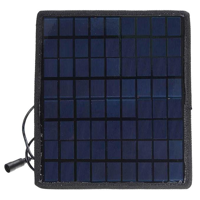 Amazon.com: HDT - Cargador solar para coche, 12 V, cargador ...