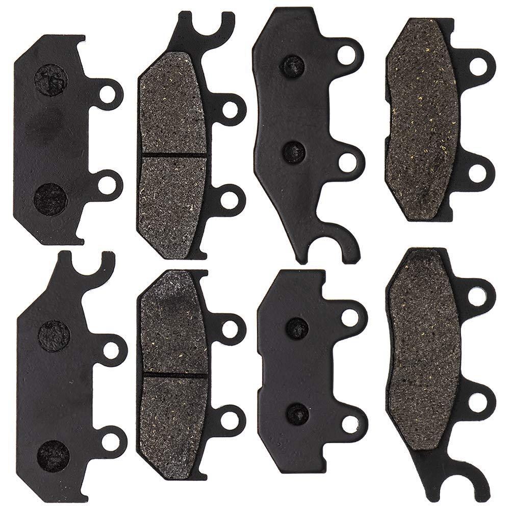 8TEN Semi-Metallic Complete Brake Pad Kit For 2014-2019 Yamaha Viking Wolverine 700 850 Replaces 1XD-25805-10-00