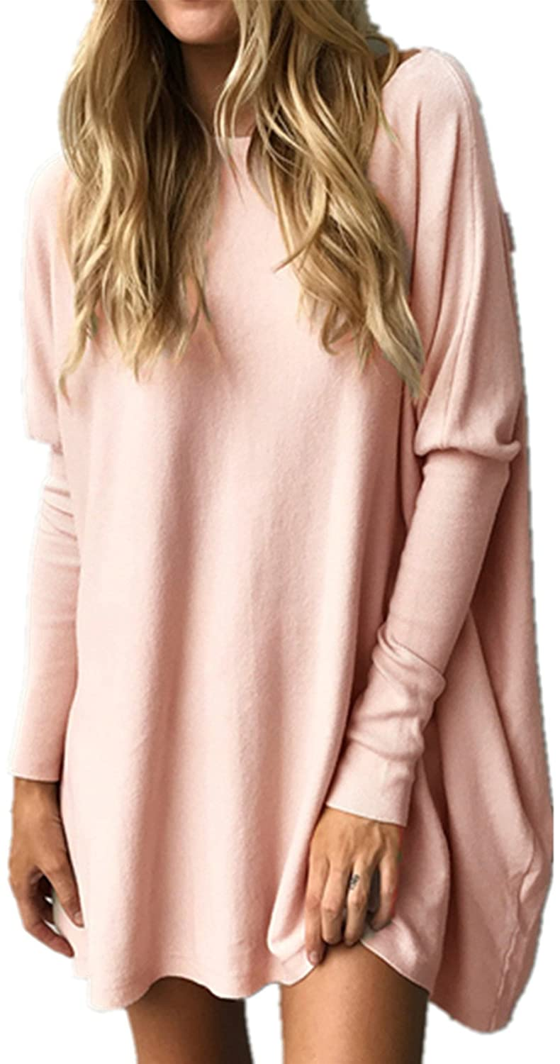 Letsrunwild Casual Long Batwing Sleeve Loose Pullover Blouse Shirt For Women