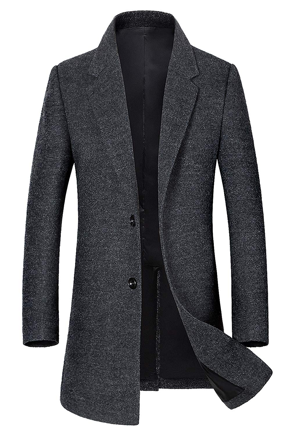 Mens Classic Single Breasted Wool Walker Coat Stylish Jacket 101219