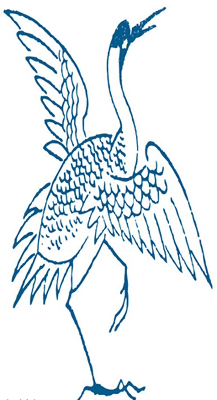 Dofull Red Crowned Crane Tattoo Waterproof Simulation Tattoo