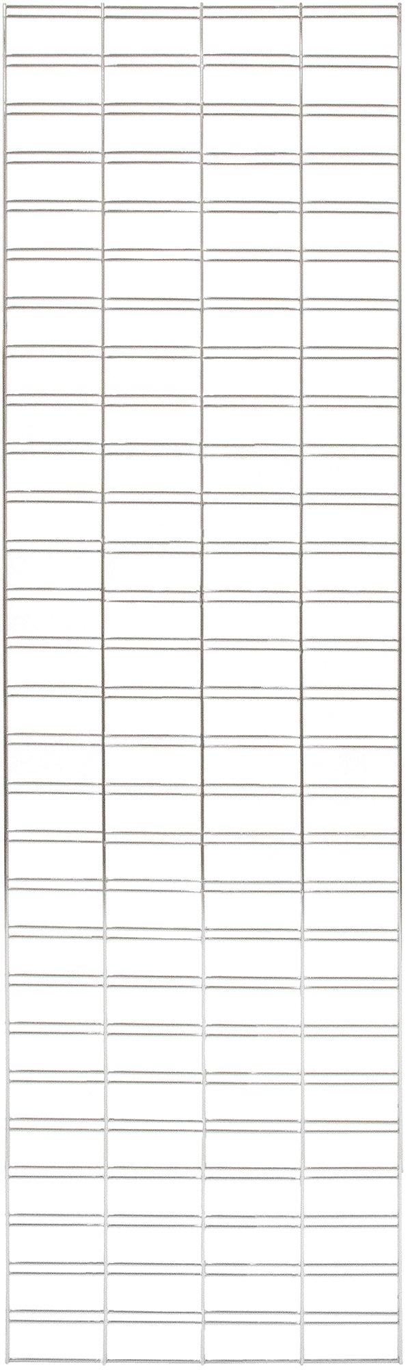 KC Store Fixtures A04257 Slatgrid Panel, 2' x 8', Chrome (Pack of 3)