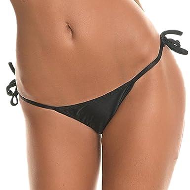 fe629cddb5d Amazon.com: CENG MAU Swimwear Women Brazilian Tie Sides T Back Bikini Thong  Swimsuit Bottom: Clothing