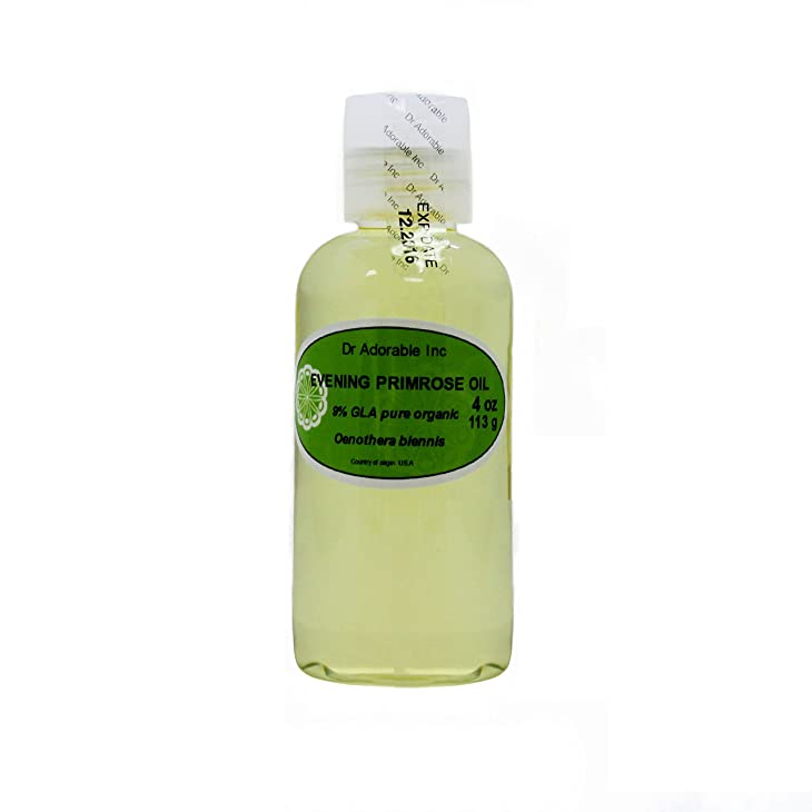 Evening Primrose Carrier Oil Organic Pure Cold Pressed by Dr.Adorable 4 Oz
