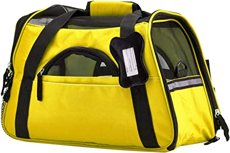 Paws & Pals Airline Approved Pet Carriers w/ Fleece Bed For Dog & Cat