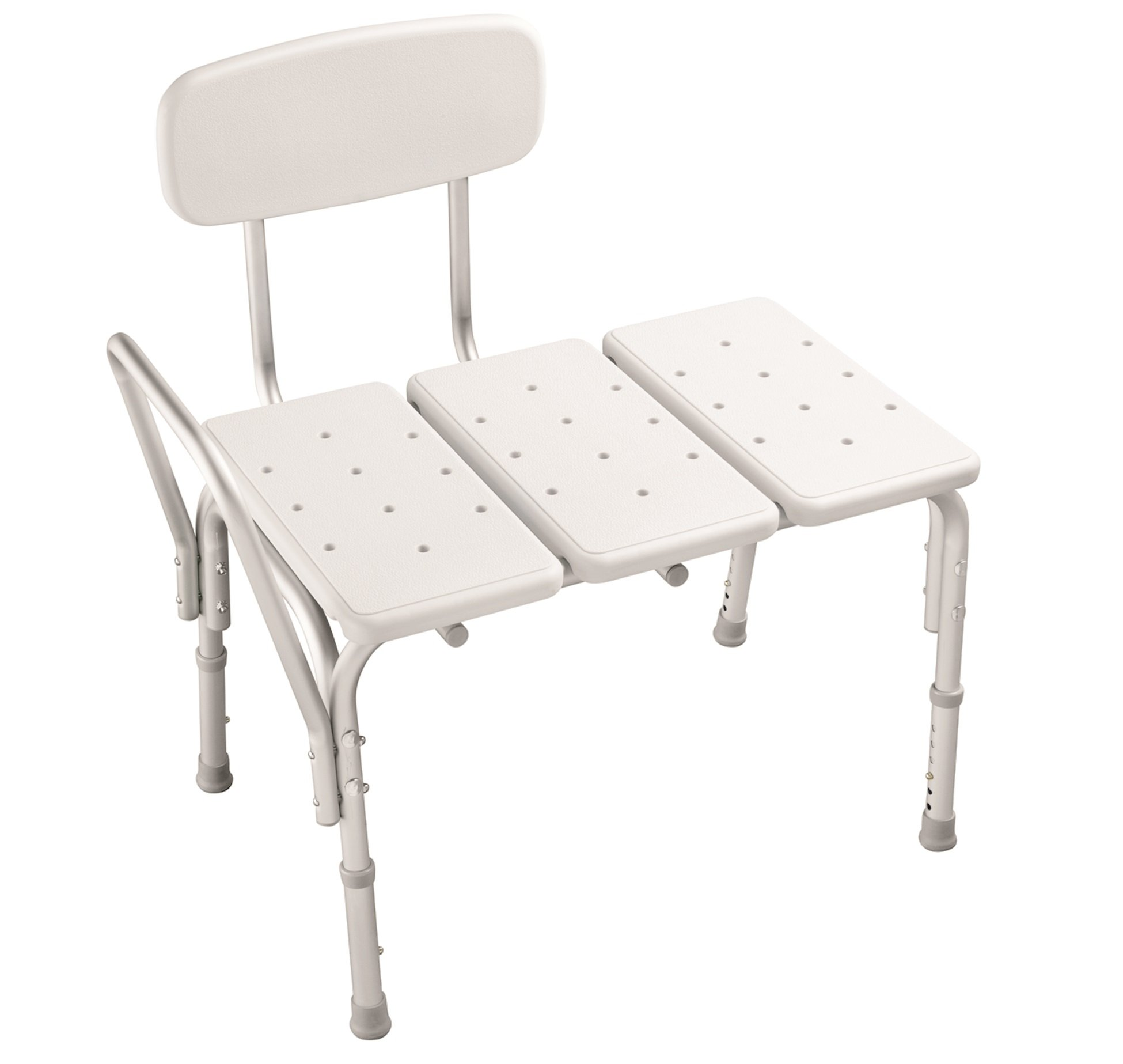 Delta DF565 Bathroom Safety Adjustable Bath Safety Transfer Bench, White by DELTA FAUCET