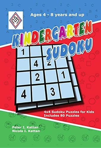 Kindergarten Sudoku: 4x4 Sudoku Puzzles for Kids