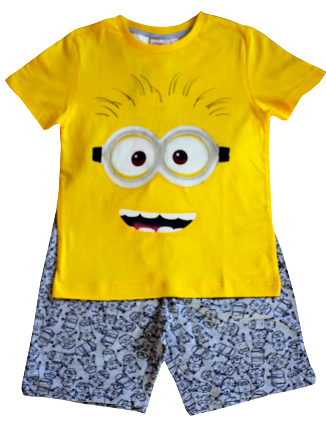 Despicable Me Minion Kids Boy's Yellow & Grey T-Shirt & Shorts Set Age 6, 8, 10 YRS 10 YRS (10 Years)