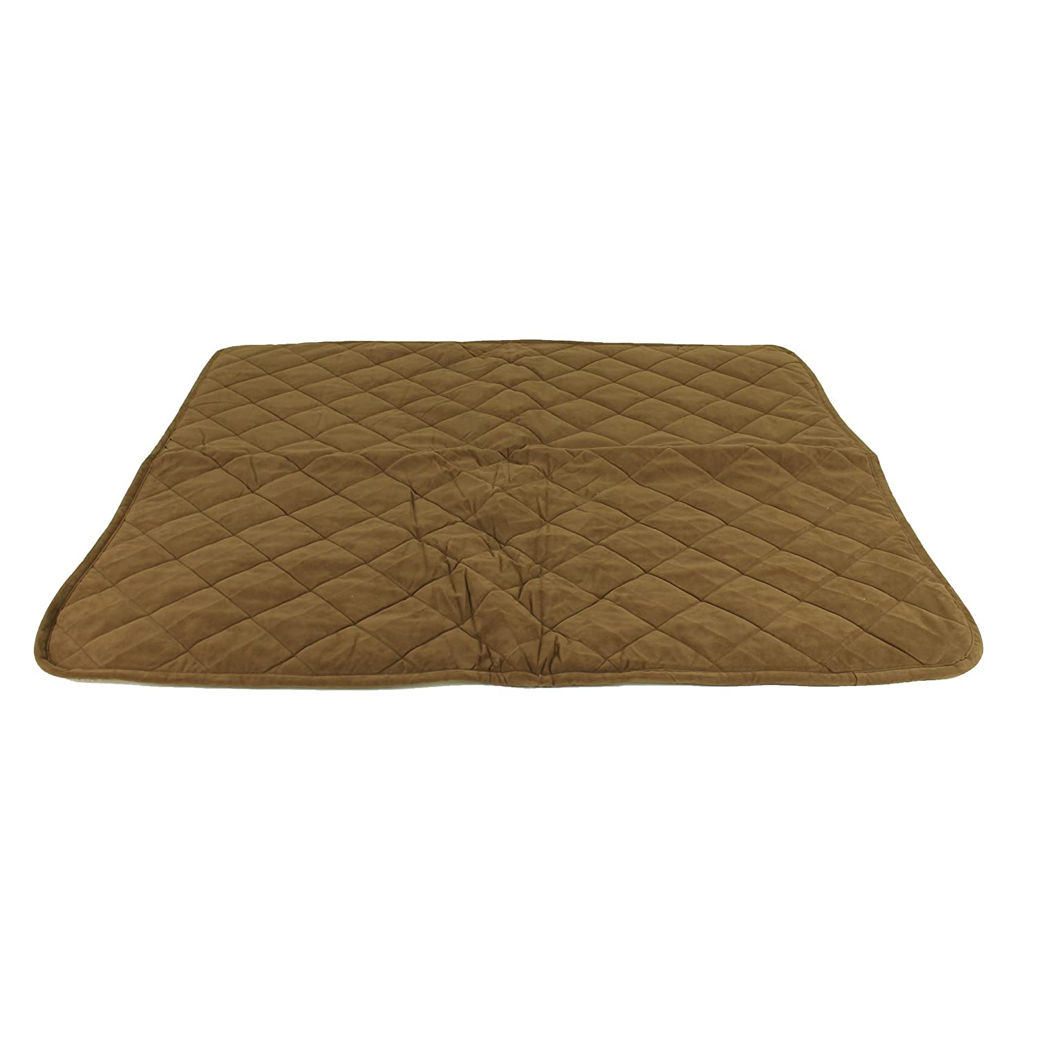 CPC Reversible Sherpa Quilted Microfiber Throw for Pets, 48-Inch, Chocolate